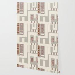 Pattern brick in the wall Wallpaper
