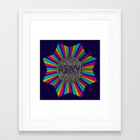 funky Framed Art Prints featuring FUNKY! by A-Devine