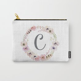 Floral Wreath - C Carry-All Pouch