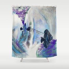 Fishie Speak Shower Curtain
