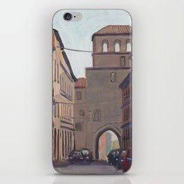 STREET SCENE, Bologna Travel Sketch by Frank-Joseph iPhone Skin