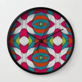 Maleku Tribal Wall Clock