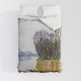 Alfred Sisley - The Loire - Digital Remastered Edition Duvet Cover