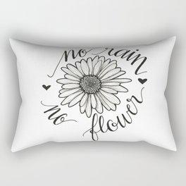 No Rain No Flower Rectangular Pillow
