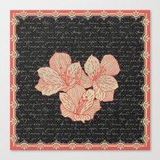 Burlap & Flowers 2 Canvas Print