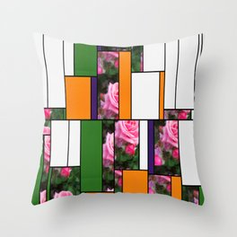 Pink Roses in Anzures 1 Art Rectangles 5 Throw Pillow