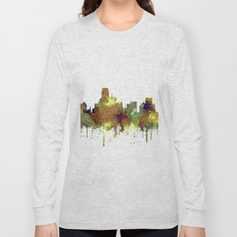 Dallas, Texas Skyline SG - Safari Buff Long Sleeve T-shirt