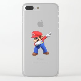 Super Mario Dab Clear iPhone Case