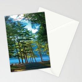 Tree Grove & Lake Sunrise Stationery Cards