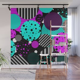 Circles, Bubbles And Stripes Wall Mural