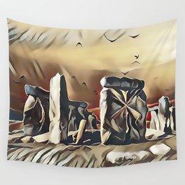 The Equinox at Stonehenge Wall Tapestry