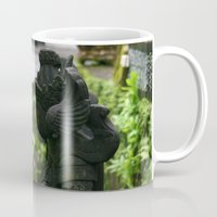 hindu Mugs featuring Bali - Hindu Goddess Statues by gdesai