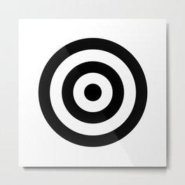 Classic Modern Bullseye Metal Print