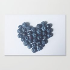 Blueberry Love Canvas Print