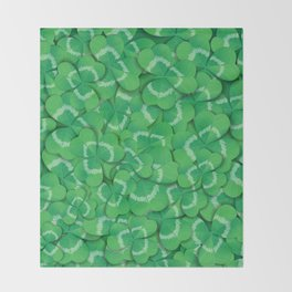 Clovers Throw Blanket