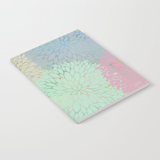 Abstract Floral Petals Notebook