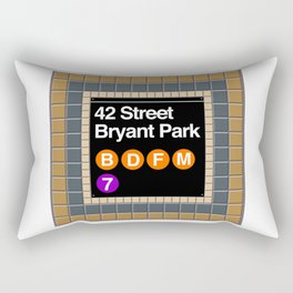 subway bryant park sign Rectangular Pillow