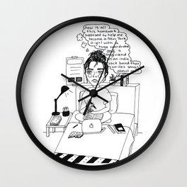 Homework Harms Life Goals Wall Clock