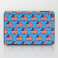 patriots iPad Cases featuring American Shamrock by The Wellington Boot