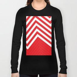 Red White Geometric #red #white #artdeco #fresh #summer #minimal #art #design #kirovair #geometric # Long Sleeve T-shirt