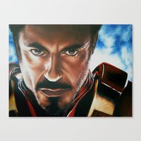 ironman Canvas Prints featuring Ironman by Lyneth Morgan