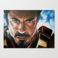 ironman Canvas Prints featuring Ironman by Lyneth Morgan
