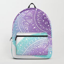 Lavendar and Turquoise Design Backpack