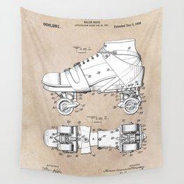 patent art Plimpton Roller Skate 1907 Wall Tapestry