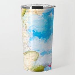 Tybee Island Lighthouse - Vintage Nautical Map Collage Travel Mug