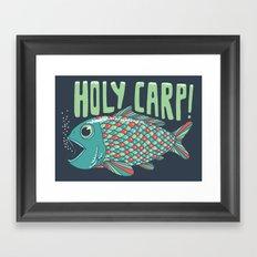 Holy Carp! Framed Art Print