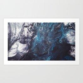 Icy crust Art Print