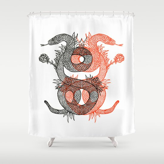 Two Serpents Shower Curtain