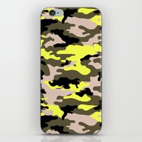 camouflage iPhone & iPod Skins featuring camouflage by RIZA PEKER