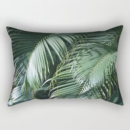 Tropical Rainforest Leaves in Paradise Rectangular Pillow