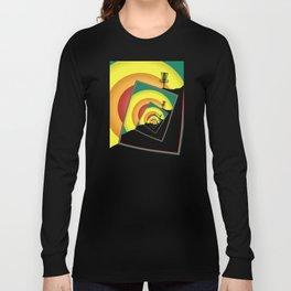 Spinning Disc Golf Baskets 3 Long Sleeve T-shirt