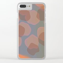 Peachy Colors Clear iPhone Case