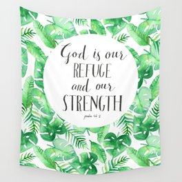 Psalm 46:1 Wall Tapestry