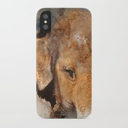 Elephant Watercolour iPhone Case