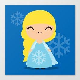 Frozen Cute Princess Elsa Canvas Print