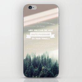 Traveler's Blessing iPhone Skin