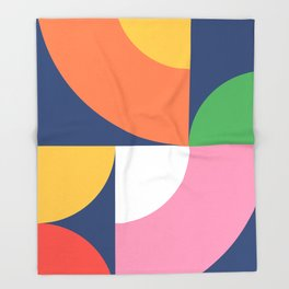 Abstract Geometric 17 Throw Blanket