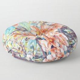 Aquarell Floral 05 Floor Pillow