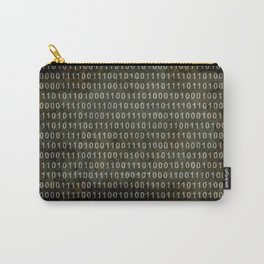 Binary Code - Distressed textured version Carry-All Pouch