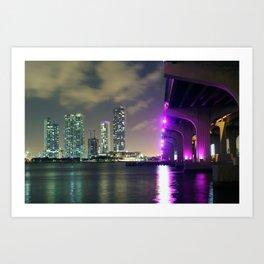 Downtown Miami Art Print