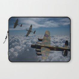 Lancaster Bomber and Spitfires Laptop Sleeve
