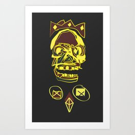 King Death Art Print