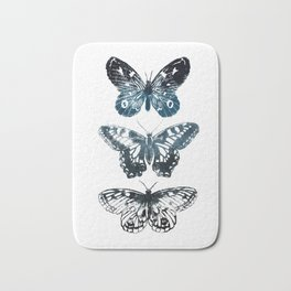Butterfly Tattoo in Black and Blue Bath Mat