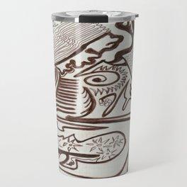 Encre brun Travel Mug