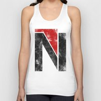 n7 Tank Tops featuring N7 new logo by BomDesignz