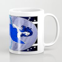 saturn Mugs featuring Saturn by Andrew Mark Hunter